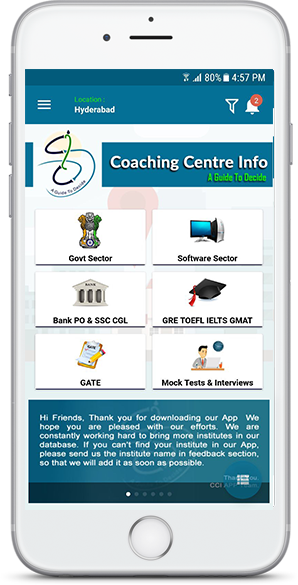 Govt Job Coaching Centres in Hyderabad, Secundrabad